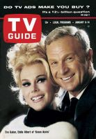 TV Guide, January 8, 1966 - Eva Gabor, Eddie Albert of 'Green Acres'