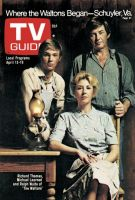 TV Guide, April 13, 1974 - Richard Thomas, Michael Learned and Ralph Waite of 'The Waltons'