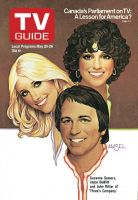 TV Guide, May 20, 1978 - Suzanne Somers, Joyce DeWitt and John Ritter of 'Three's Company'