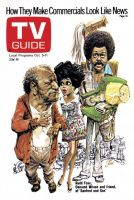 TV Guide, October 5, 1974 - Redd Foxx, Demond Wilson and friend, of 'Sanford and Son'