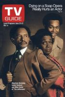 TV Guide, June 21, 1975 - Sherman Hemsley, Isabel Sanford and Mike Evans of 'The Jeffersons'
