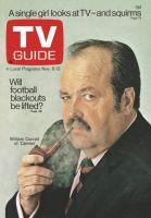 TV Guide, November 6, 1971 - William Conrad of 'Cannon'