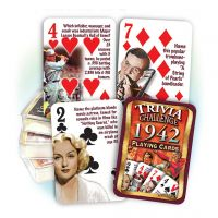 1942 Trivia Challenge Playing Cards: 78th Birthday or Anniversary Gift