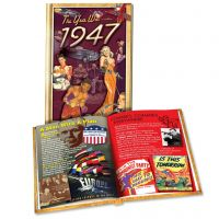 1947 MiniBook: 73st Birthday or Anniversary Gift