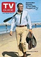 TV Guide,  January 11, 1975 - David Janssen of 'Harry O'
