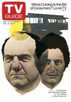 TV Guide, March 22, 1975 - Karl Malden and Michael Douglas of 'The Streets of San Francisco'