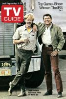 TV Guide, April 19, 1975 - Frank Converse and Claude Akins of 'Movin' On'