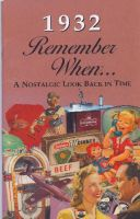 1932 Remember When Booklet