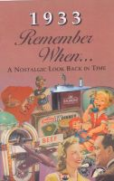 1933 Remember When Booklet
