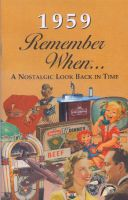 1959 Remember When Booklet