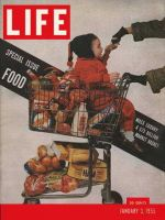 Life Magazine, January 3, 1955 - Food, child in shopping cart