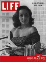 Life Magazine, January 9, 1950 - Actress Norma de Landa