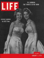 Life Magazine, January 11, 1954 - Debutante wardrobe