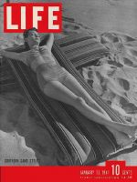 Life Magazine, January 13, 1941 - Woman on Beach