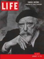Life Magazine, January 14, 1952 - Augustus John
