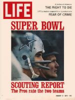 Life Magazine, January 14, 1972 - Dallas Cowboys Roger Staubach and Tom Landry, football