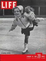 Life Magazine, January 16, 1950 - Ice skating prodigy