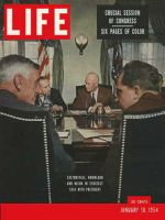 Life Magazine, January 18, 1954 - Strategy session