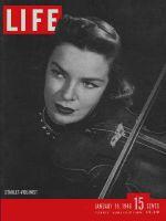 Life Magazine, January 19, 1948 - Violinist Marcia Van Dyke