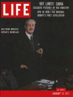 Life Magazine, January 21, 1957 - Harold Macmillan