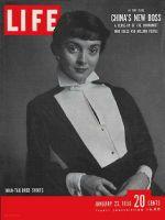 Life Magazine, January 23, 1950 - Woman wearing mans shirt