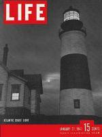 Life Magazine, January 27, 1947 - Lighthouse on Atlantic coast