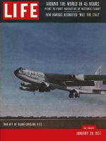 Life Magazine, January 28, 1957 - Record flight