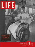 Life Magazine, January 29, 1945 - Wounded soldier