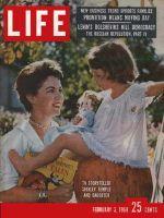 Life Magazine, February 3, 1958 - Shirley Temple Black and daughter