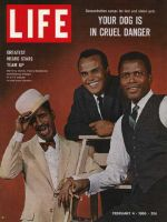Life Magazine, February 4, 1966 - Sammy Davis, Harry Belafonte, and Sidney Poitier
