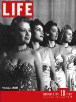 Life Magazine, February 9, 1942 - Nightclub chorus