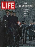 Life Magazine, February 10, 1967 - Gus Grissom's caisson at Arlington