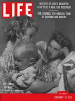 Life Magazine, February 14, 1955 - Mother with children