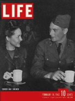 Life Magazine, February 16, 1942 - USO singer and soldier