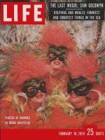 Life Magazine, February 16, 1959 - Miami show girls