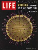 Life Magazine, February 18, 1966 - Model of flu germ