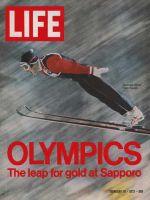 Life Magazine, February 18, 1972 - Olympic ski-jump winner