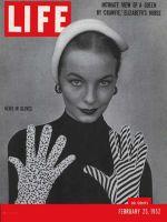 Life Magazine, February 25, 1952 - Fancy gloves