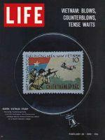 Life Magazine, February 26, 1965 - North Vietnamese postage stamp