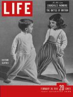 Life Magazine, February 28, 1949 - Boy and girl in Costume clothes