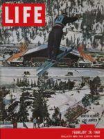 Life Magazine, February 29, 1960 - Winter Olympics, ski jump