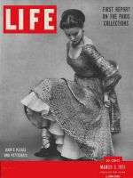 Life Magazine, March 5, 1951 - Paris fashions