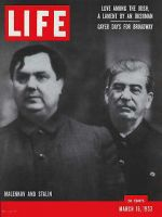 Life Magazine, March 16, 1953 - Malenkov and Stalin