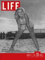 Life Magazine, March 17, 1947 - girl on beach