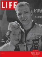 Life Magazine, March 19, 1951 - Navy couple