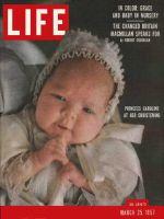 Life Magazine, March 25, 1957 - Monaco's  baby Caroline