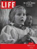 Life Magazine, March 26, 1951 - Cherub Choir, girl singing