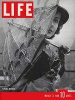 Life Magazine, March 27, 1939 - Woman with umbrella