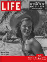 Life Magazine, March 27, 1950 - Model Anne Bromley