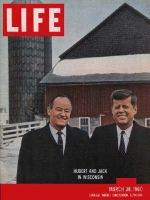 Life Magazine, March 28, 1960 - Hubert H. Humprey and John F. Kennedy